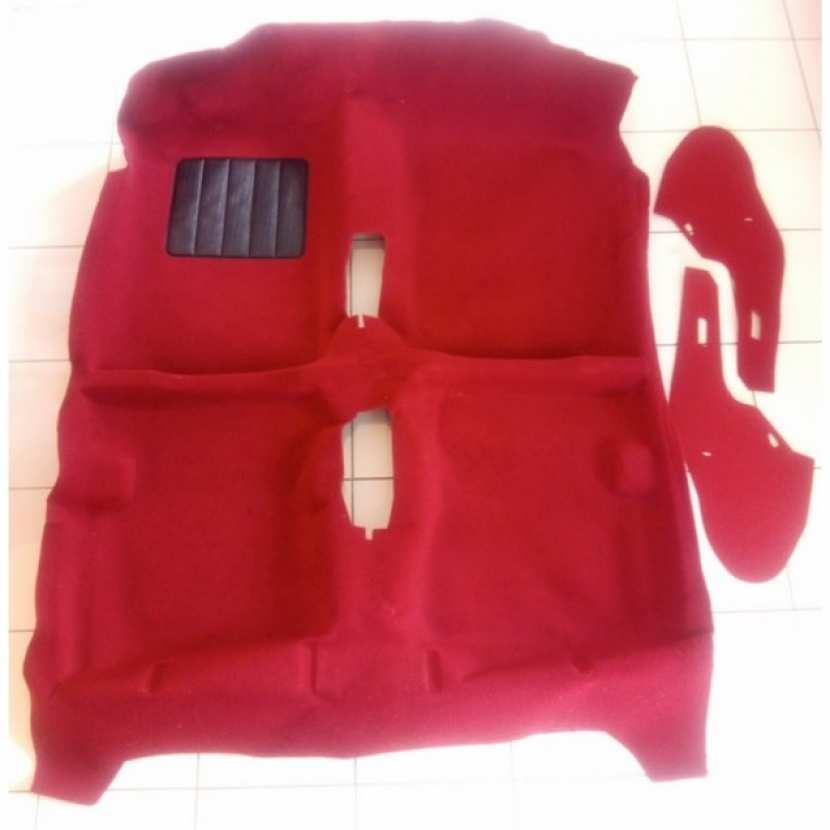 moquette neuve rouge pour peugeot 205 gti et rallye insonorisants. Black Bedroom Furniture Sets. Home Design Ideas